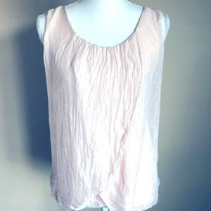 ANGELA Pink Silk Blouse, Made in Italy, Large